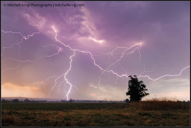 Photo of electrical lightning thunderstorm over the North West Province of South Africa.