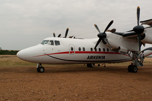 Air Kenya Dash 7 Aircraft Transfer Maasai Mara