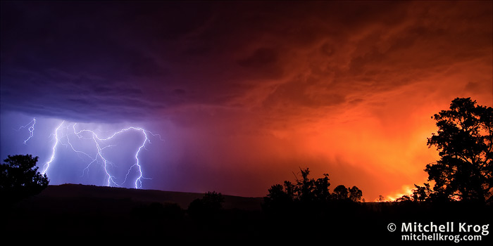 Fire and Ice - Lightning Photography Under African Night Skies