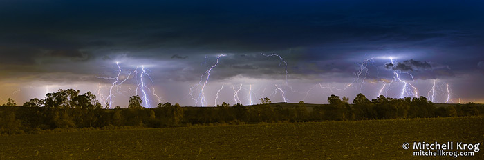 Multistrike Lightning Photo - South African Lightning Photography Panorama