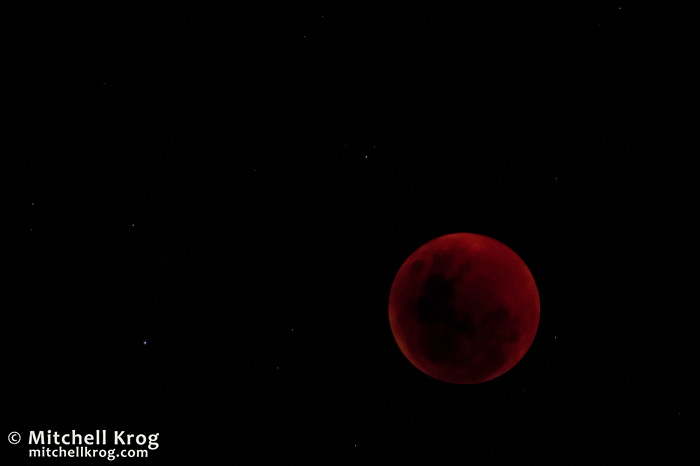 Astrophotography Photo of Totality of Lunar Eclipse from South Africa
